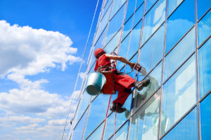 Window washer high office building